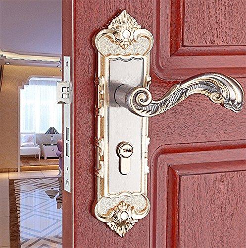 Mortise Lock Lever 2 (Door Lock Set Security Entry Doors Mortise Lever Stainless Steel Locks Interior Room Hanging Sliding Door Embedded Lock Hook)