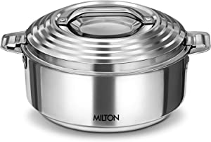 Milton Galaxia Insulated Stainless Steel Hot Pot Serving Bowl with Lid Hot/Cold Up to 4-6 Hours, Steel (1000ml) SMALL