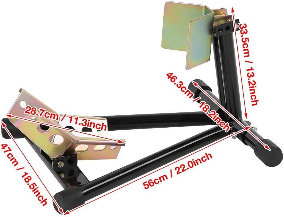 Motorcycle Heavy Duty Front Wheel Chock Parking Rack Display Holder Front Wheel Chock