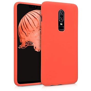 kwmobile Funda para OnePlus 6 - Carcasa de [TPU] para teléfono móvil - Cover [Trasero] en [Naranja]