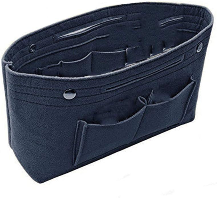 2PCS//Set Organizer Bag Handbag Purse Felt Insert Multi Pocket Makeup Storage HOT
