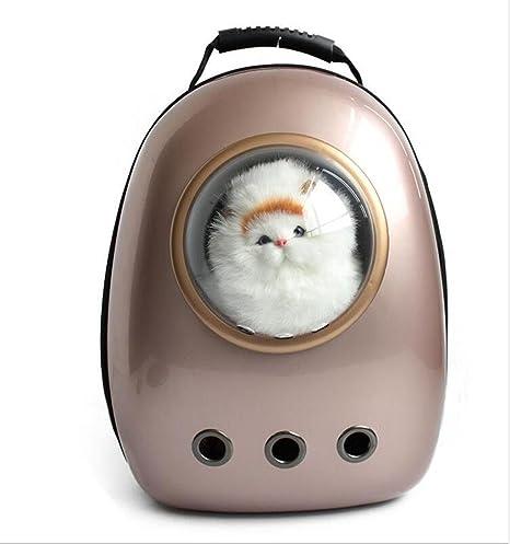 WSS Espacio Gato Mascotas Pecho Bolsa Mochila perro creativo transparente bolso cabina