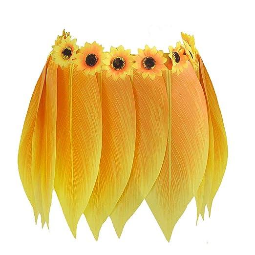 Merlinae Falda Hawaiana de Hojas Amarillas para Mujeres/niños ...