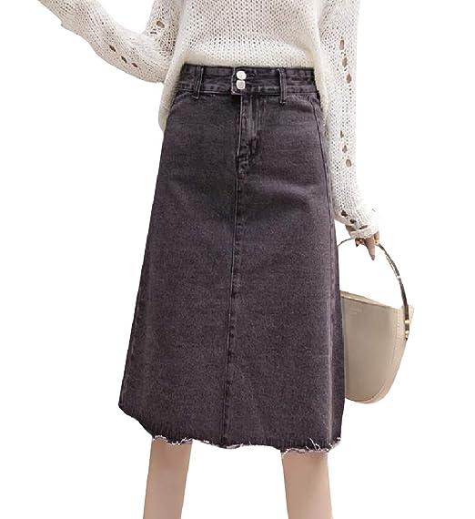 Andopa Comfort amigo ocasional delgado de mitad de falda larga ...