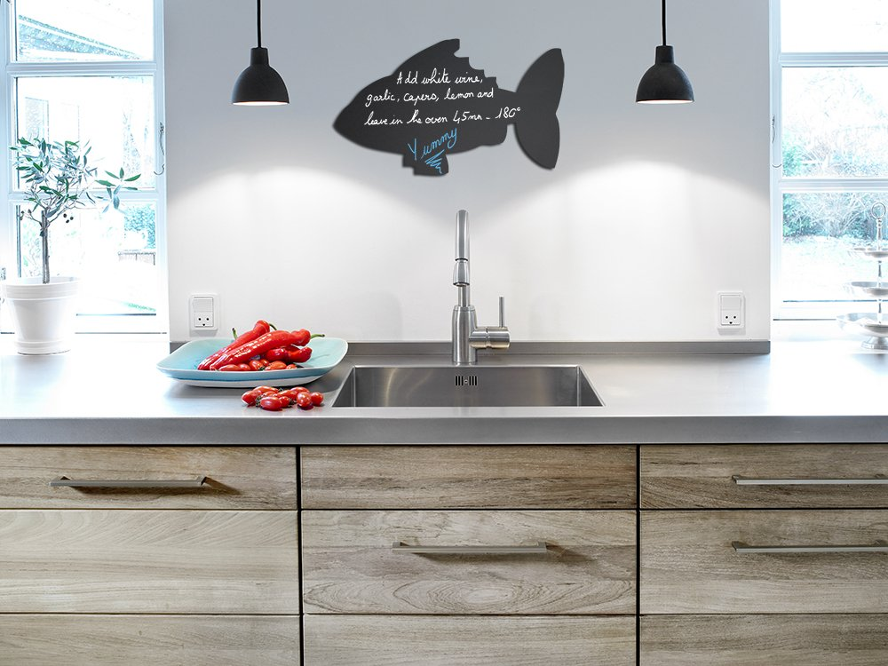 Amazon.com: Securit Silhouette Fish Wall Chalk Board - Black ...