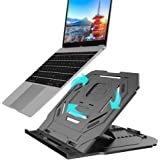 LAOPAO PCホルダー ノートパソコンスタンド 360°回転可能 折りたたみ式 10段高さ角度調整 超軽量 放熱対策 滑り止め付き エルゴノミクス 携帯型 pc/iPad/Macbook/Macbook Pro 等に対応