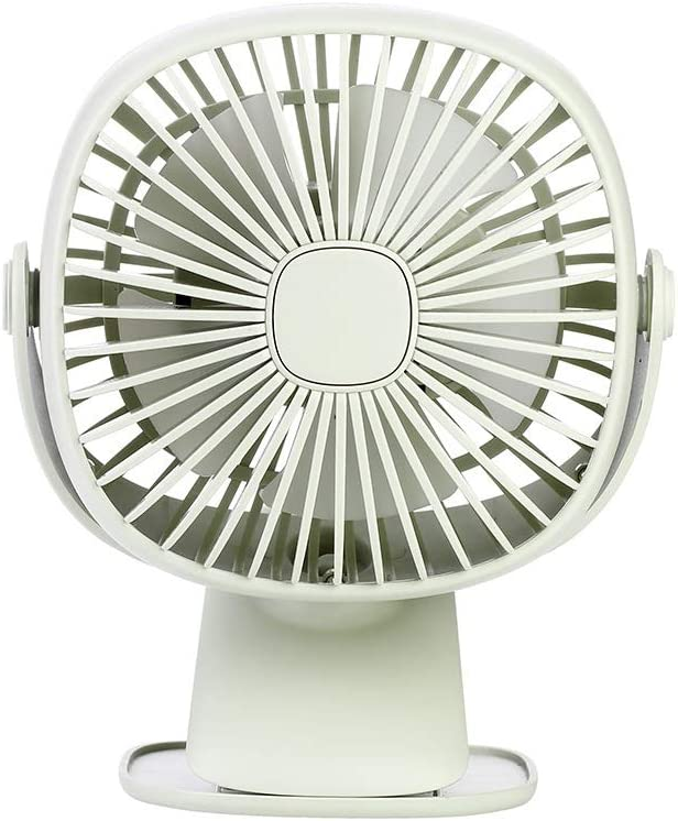 QIAOXINGXING 2019 Nuevo Ventilador de Clip de lámpara de Mesa Cuadrada Ventilador de Clip de Escritorio Ventilador de Clip de luz Nocturna Ventilador de colocación Conveniente (Color : Verde)