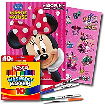 minnie mouse coloring book with markers - Minnie Mouse Coloring Book