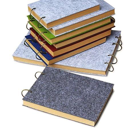 Lvcky - Cuaderno de Fieltro A6, rellenable, Cuaderno de ...