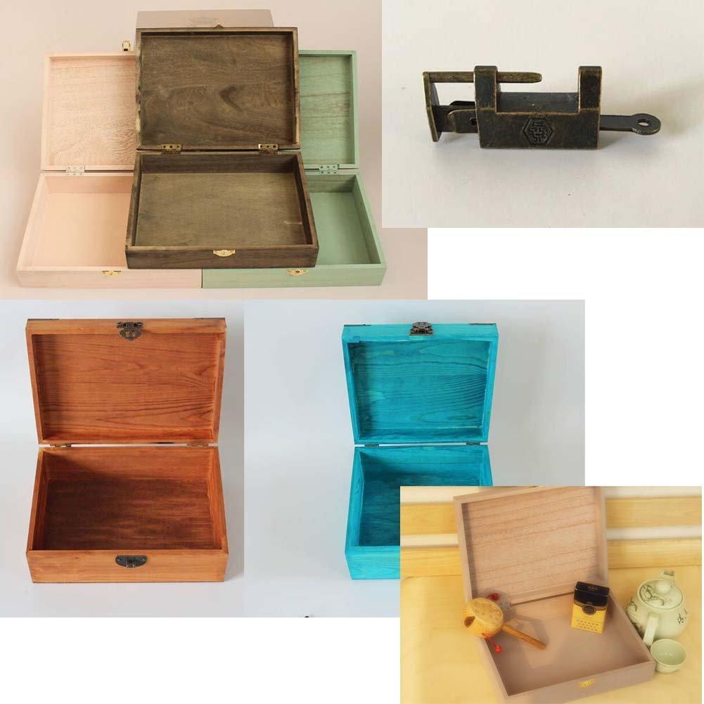 Creative Retro Lock With Wooden Box Desktop Rectangle Storage Box-Retro by DRAGON SONIC (Image #2)