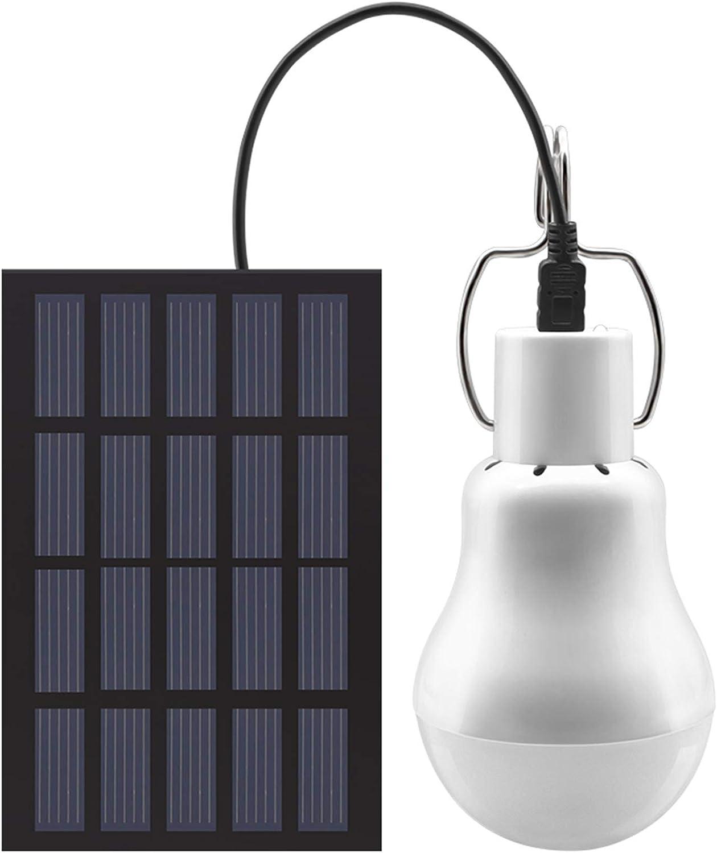 Solar Panel Powered LED Light Bulb Portable Outdoor Camping Tent Fishing Lamp UK