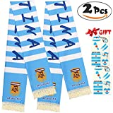 VAMEI 2 PCS 2018 World Cup Russian Football Scarf Tattoo Sticker For Fan Watch Football Game Celebrate Party,Argentina