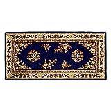 Cheap Minuteman International Blue Oriental Wool Hearth Rug, Rectangular