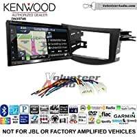 Volunteer Audio Kenwood DNX574S Double Din Radio Install Kit with GPS Navigation Apple CarPlay Android Auto Fits 2006-2012 Non Amplified Toyota RAV4