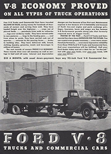 Economy Tractor - V-8 Economy Proved on all types of operations Ford Semi Tractor ad 1936 T