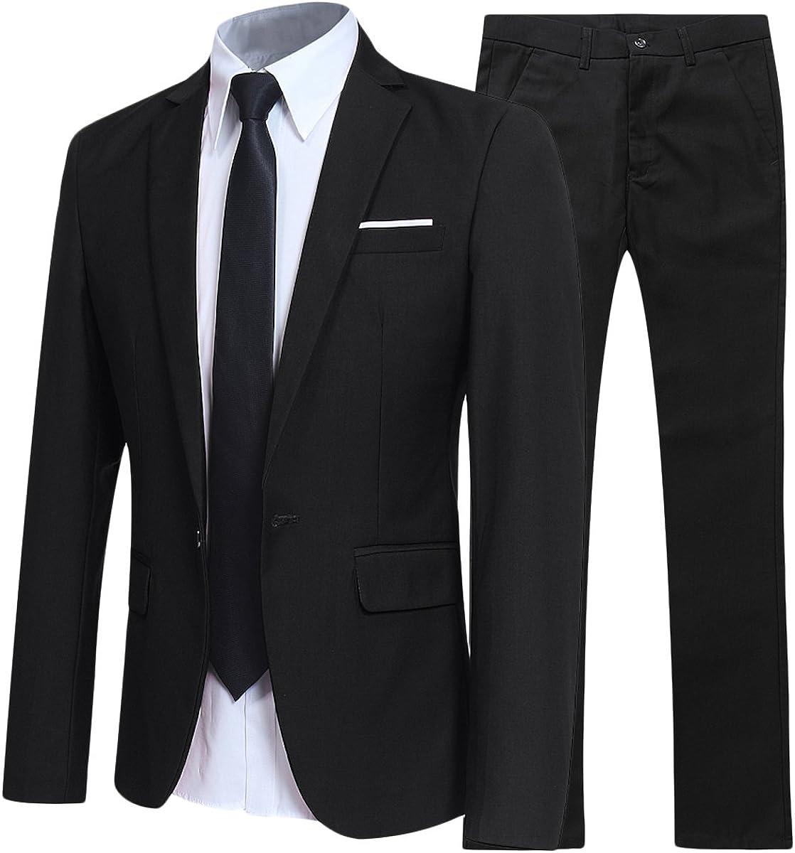 Mens Suits 2 Piece Suit Slim Fit