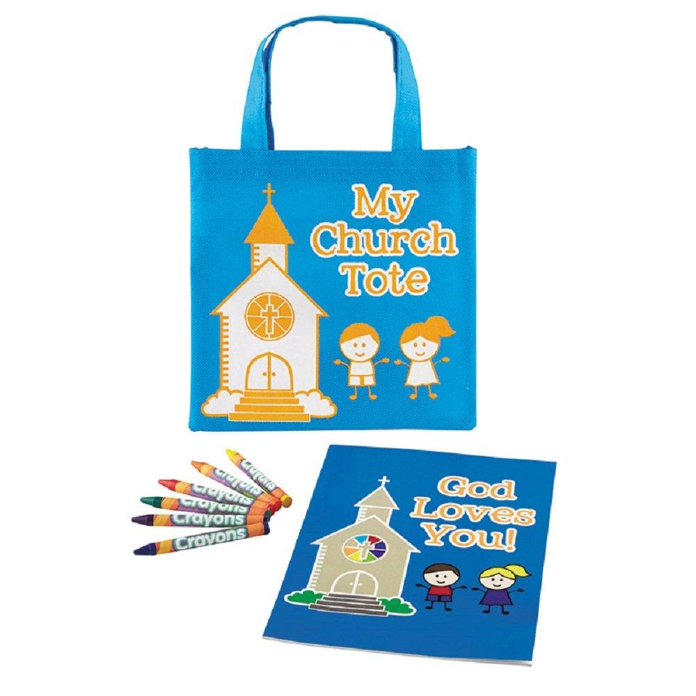 My Church Tote Bag Coloring Set - 12pk