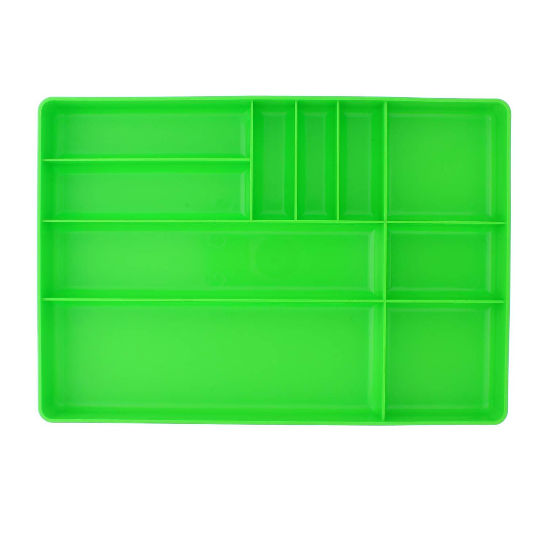 "ABN | Toolbox Drawer Organizer Tool Organizer Tool Tray – Tool Drawer Organizer Sorting Tray 16x11x1.5"" Inch in Green"