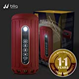 Bliiq Infinite X Portable Bluetooth Wireless Speaker - Waterproof, Dustproof, Shockproof w/ Built-in Powerbank, LED light, Micro-SD card Slot - RUBY RED