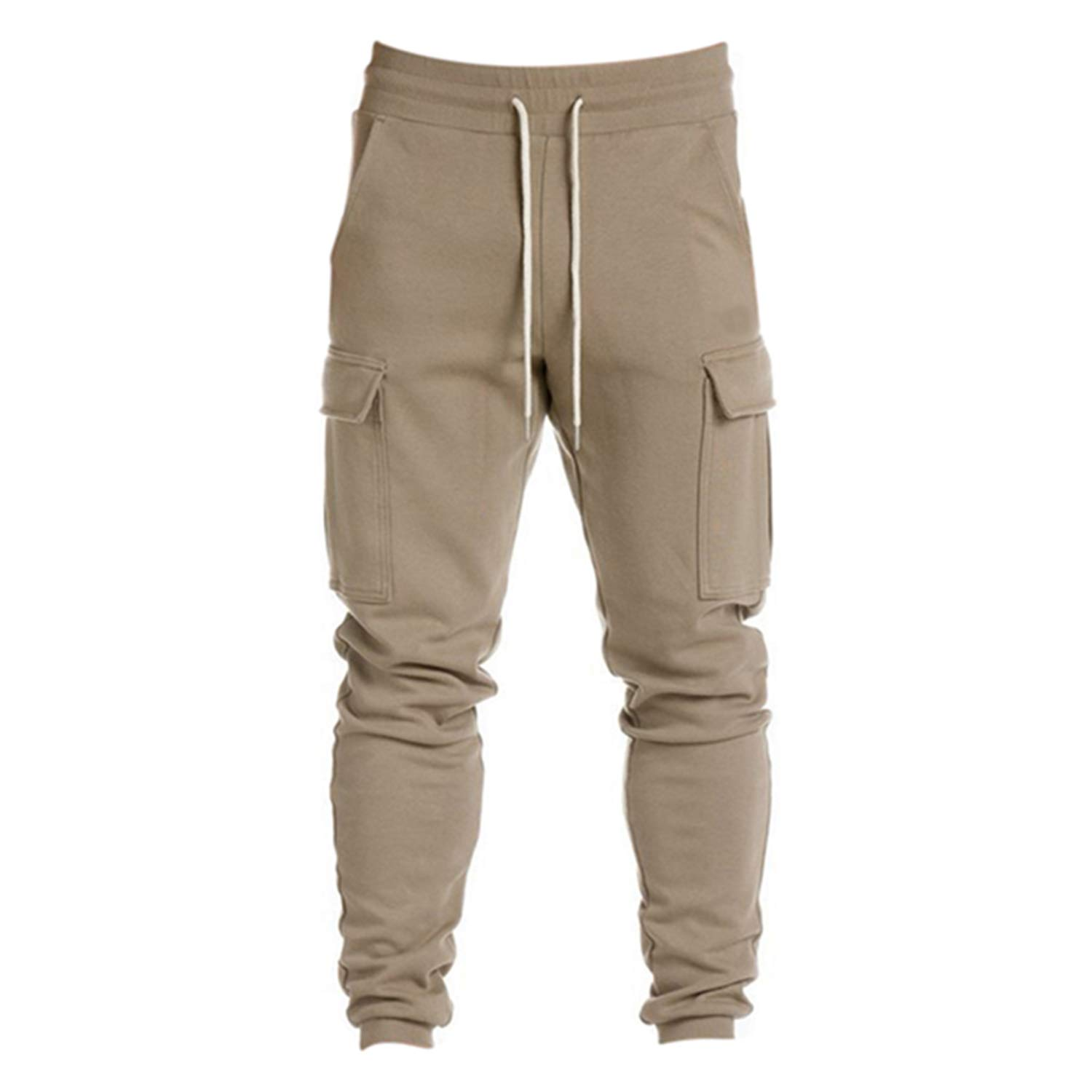 Plus Size Military Gyms Sweatpants Big Pockets Fitness Long Men's Trousers
