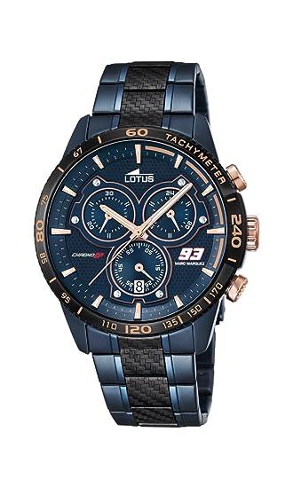 569ed0a308bf Lotus Reloj Hombre de Analogico con Correa en Chapado en Acero Inoxidable  18330 1  Amazon.es  Relojes