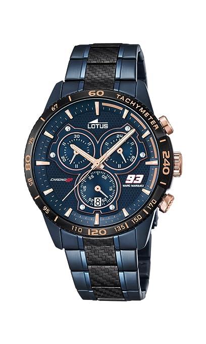 d2dba5900e30 Lotus Reloj Hombre de Analogico con Correa en Chapado en Acero Inoxidable  18330 1  Amazon.es  Relojes