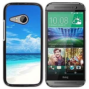 Be Good Phone Accessory // Dura Cáscara cubierta Protectora Caso Carcasa Funda de Protección para HTC ONE MINI 2 / M8 MINI // Caribbean White Sand Paradise Beach