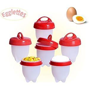 GESUNDHOME Hervidor de Huevos - 6 Hueveras Antiadherente Huevos ...