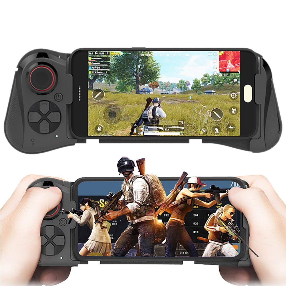DZYXSB Wireless Game pad Bluetooth Android Joystick VR Telescopic Gaming Controller Support PUBG Mobile Gamepad for iPhone