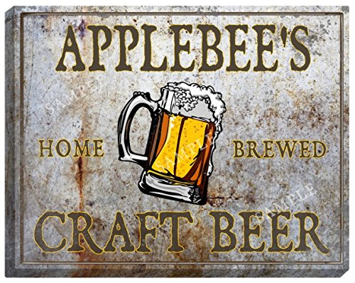 applebees-craft-beer-stretched-canvas-sign-16-x-20