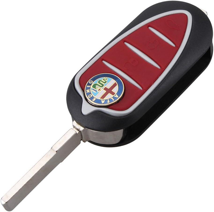 3 Botón Rojo Carcasa Funda Cáscara Llave para Coche Alfa Romeo Mito Giulietta GTO 159 3