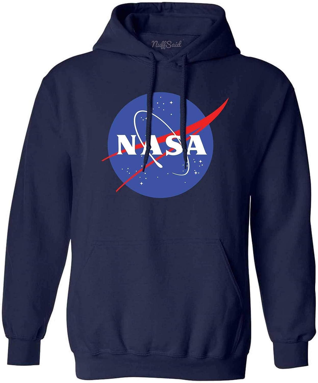 NuffSaid NASA Meatball Logo Worm Hooded Sweatshirt Sweater Pullover - Unisex Hoodie