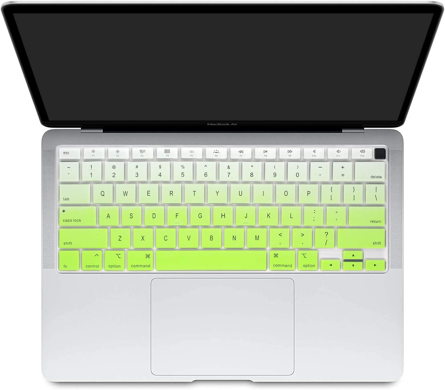 Silicone Keyboard Cover for MacBook Air 13 inch 2020 A2179 with Retina Display & Touch ID US Version Ultra Thin Protective Skin (for 2020 Air 13 A2179, Fresh Green Gradient)