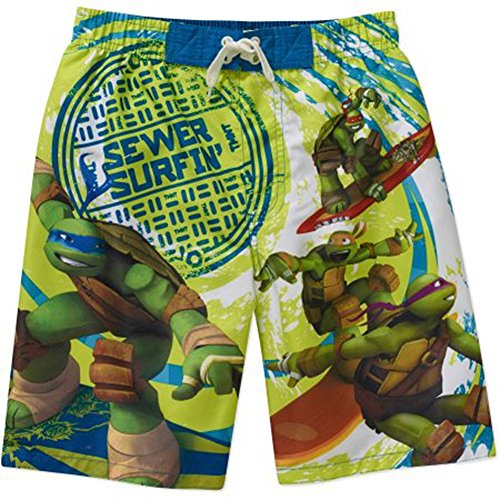 Nickelodeon Teenage Mutant Ninja Turtles Boys' Swim Shorts Size XS 4/5
