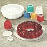 GELATIN MOLD SET - INCLUDES LARGE GELATIN MOLD - 6 GELATIN CUPS WITH TOP AND BOTTOM LIDS (TOTAL-21 PIECES!)