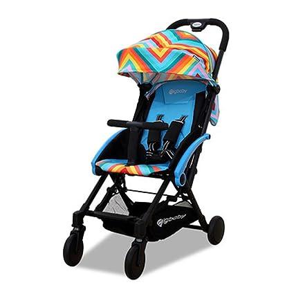 HJHY Carros de bebé, Paisaje alto Paraguas plegable coche Ultra ...