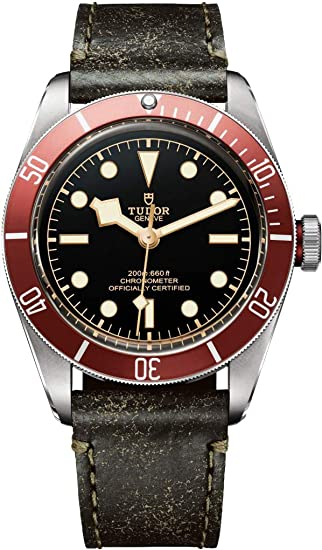 Tudor Patrimonio Negro Bahía Hombres del reloj 79230r: Amazon.es: Relojes