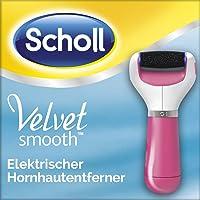 Scholl Velvet Smooth Express Pedi rosa, elektrischer Hornhautentferner mit Rolle - Extra Stark mit Mikrogranulaten und Diamantpartikeln