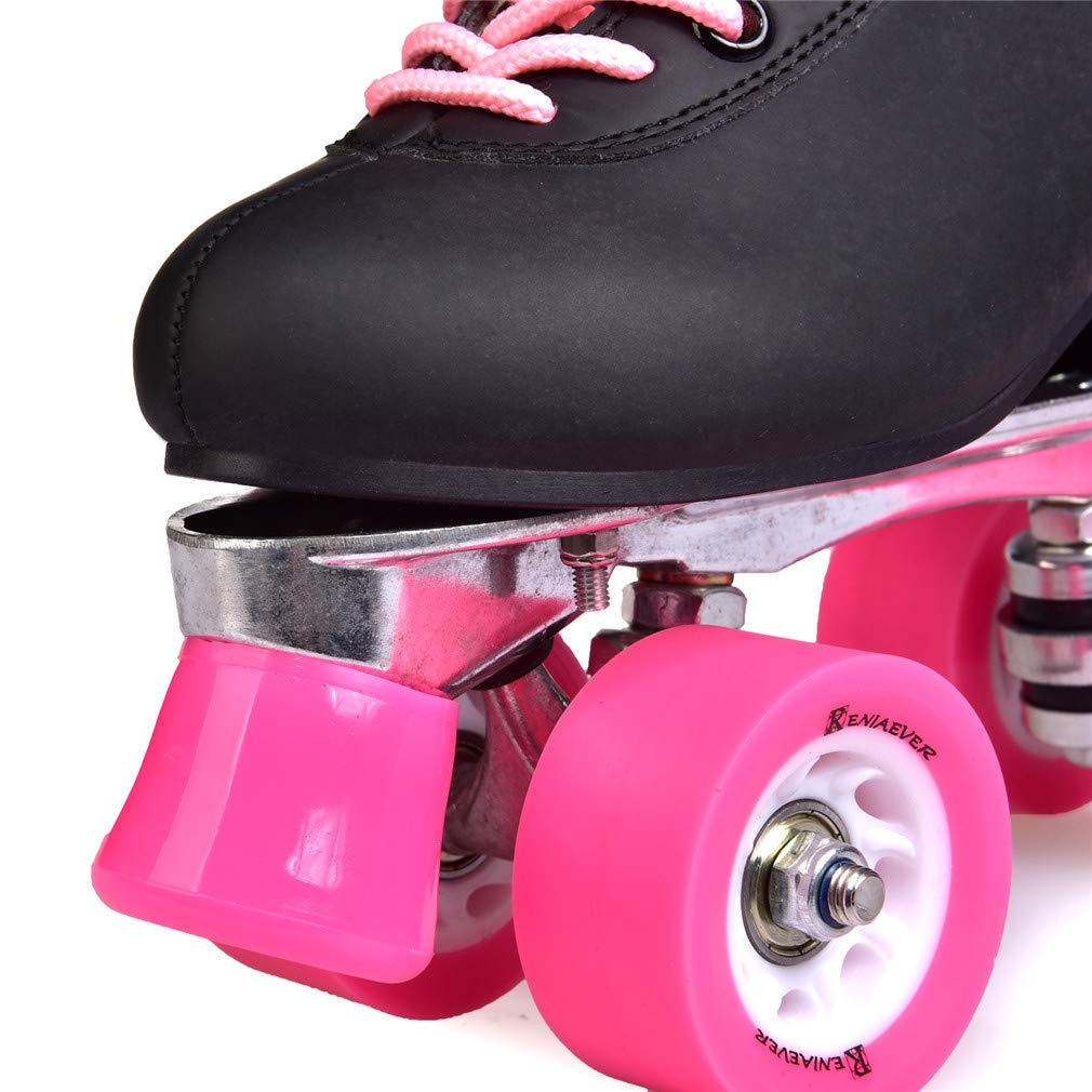 Amazon.com : GOLDGOD Double Row Skates Roller Skates Pulley Shoes Black Pink Flash Four Wheel Aluminum Alloy Chassis Adult Men and Women Models : Sports & ...