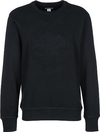 b725384b669d2d Converse Men s Embossed Graphic Sweatshirt in Black  Amazon.co.uk ...