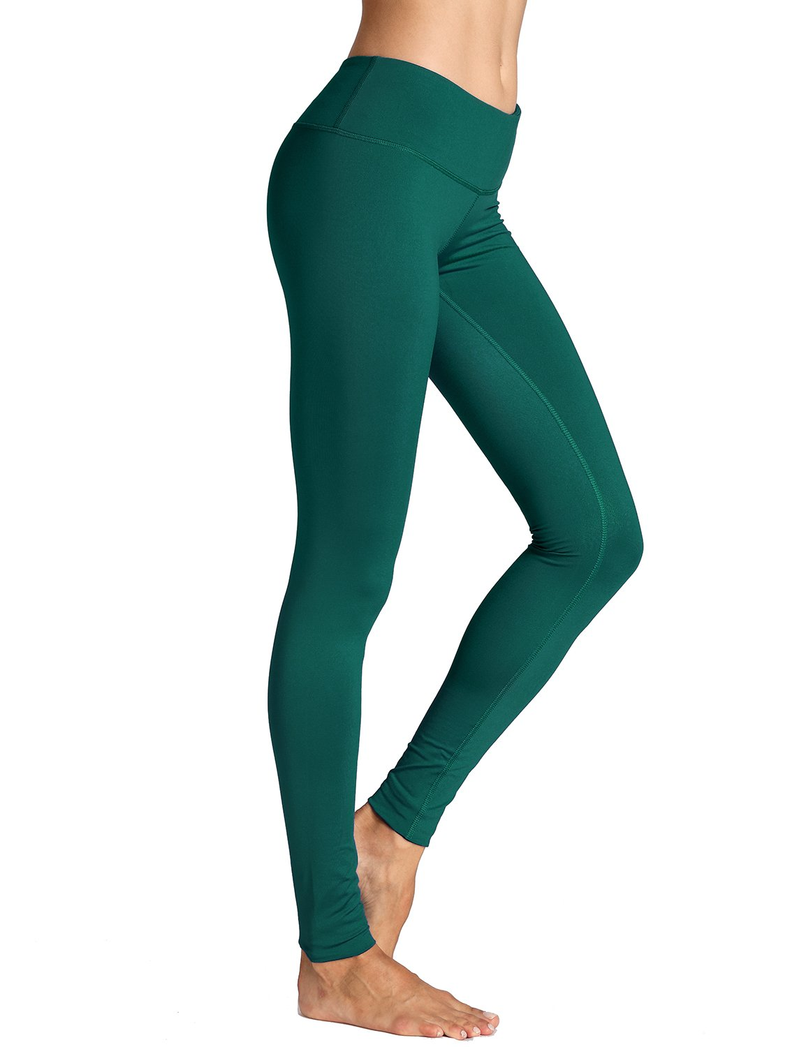 CRZ YOGA Women's Running Tights Workout Leggings Slimming Yoga Pants with Pockets