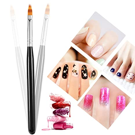 1 UNID Uñas acrilicas cepillos Nail Art Pen Cepillo de Manicura UV Gel Nails Pintura Dibujo