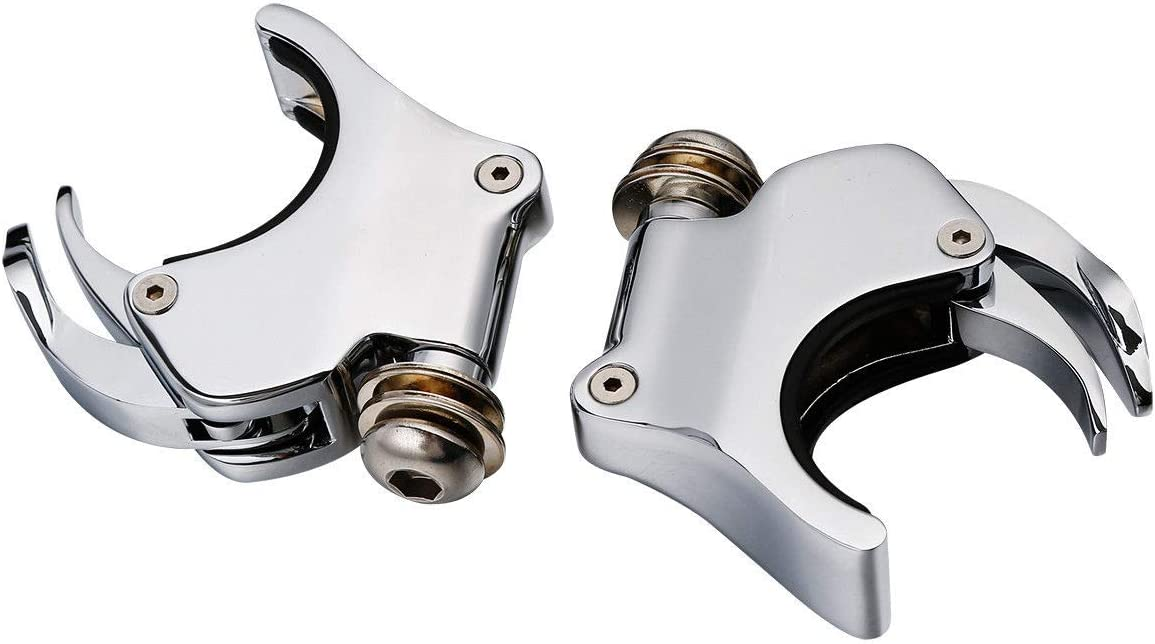2007 VRSCX TCMT 2 Pairs 49mm Detachable Windshield Clamps Fits For Harley 2002-2010 VRSCA VRSCAW Black 39mm 2016-later XL1200X and 2006-later Dyna models 2004-2005 VRSCB