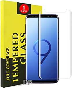 for Samsung Galaxy S9 Plus Full Coverage Tempered Glass LCD Anti Scratch Screen Protector Film Guard (1 Pack, Clear)