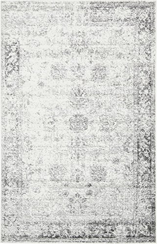Unique Loom 3134032 Sofia Collection Traditional Vintage Beige Area Rug, 5' x 8' Rectangle, Gray