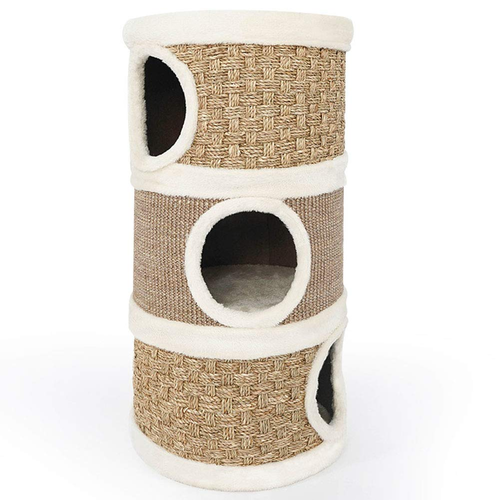 ZZLYY Holes and Platforms with Scratching Surface, Cats Toy for Kittens, Cats, and Other Pets by ZZLYY