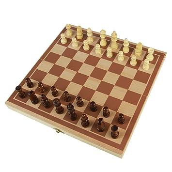Ajedrez para Niños Damas Backgammon Educativo Juego Adulto de Madera Conjunto Juguetes Plegable Chess para 3 Años+: Amazon.es: Juguetes y juegos