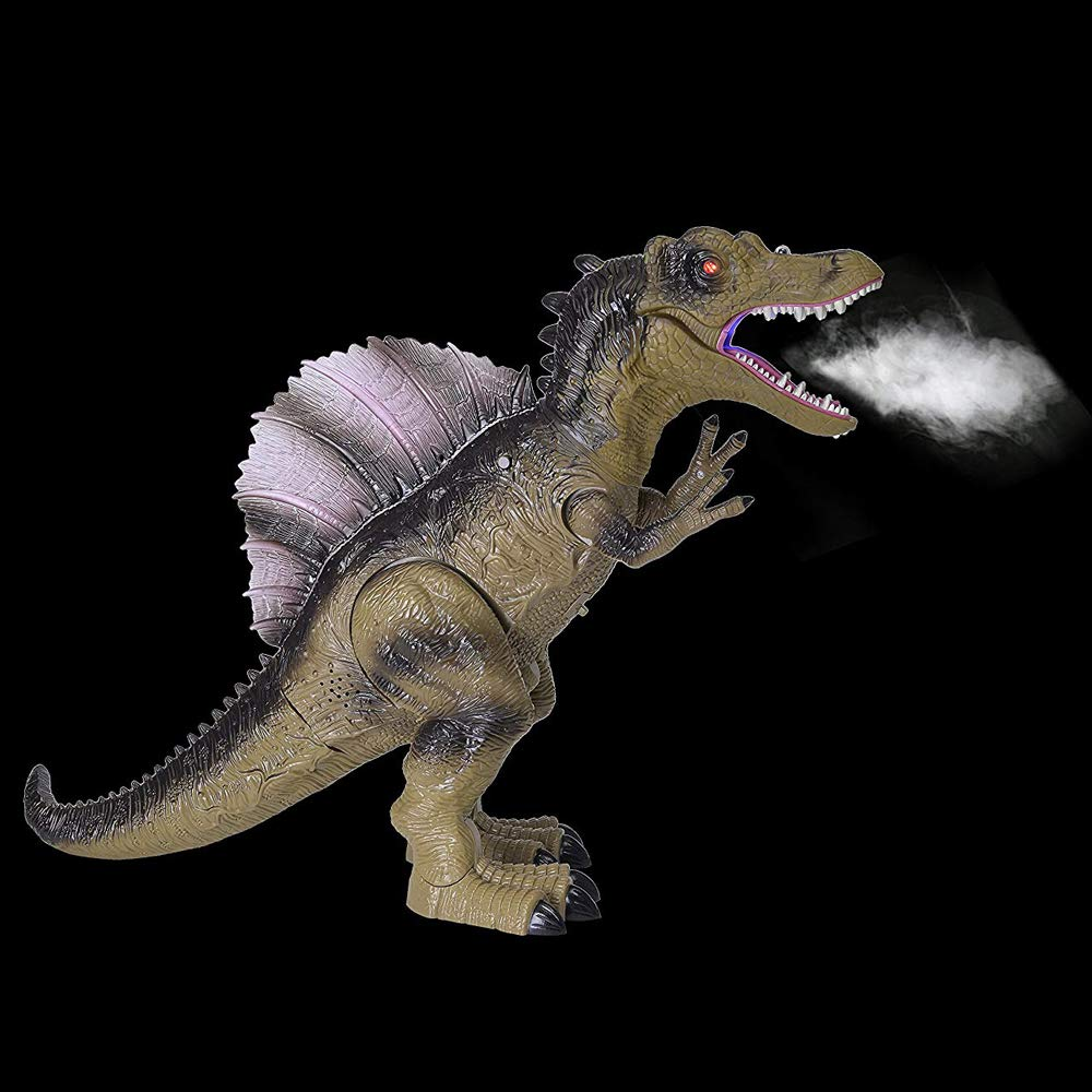 Build Me Remote Control Dinosaur Toy for Kids with Roaring Sounds and Smoking Breath. RC Spinosaurus Dino with Glowing Eyes, Walking Movement, Shaking Head. by Build Me (Image #4)