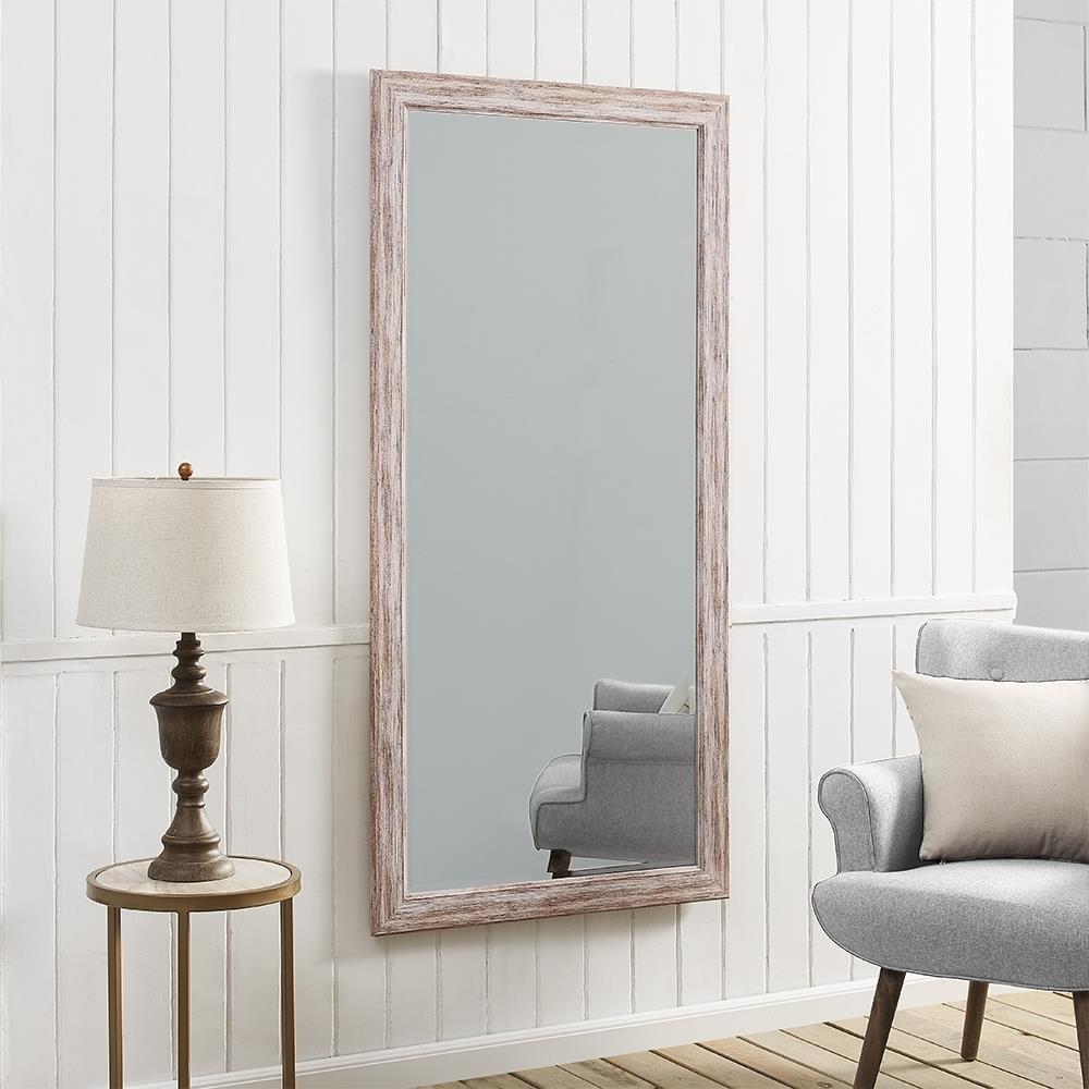 Naomi Home Rustic Mirror White//66 x 32