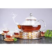 Queta–Calentador de té café calientaplatos de Acero Inoxidable